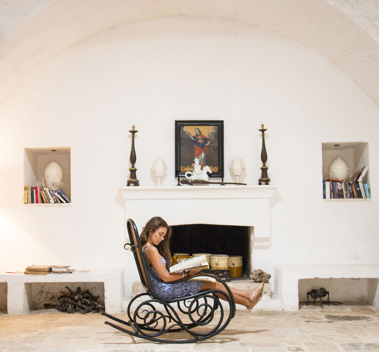 Pure relaxation in a quiet nook at rustic Masseria Potenti. Image © Masseria Potenti