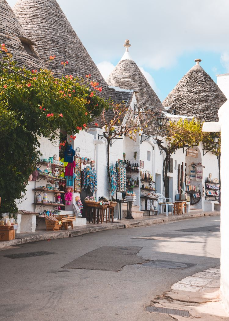 These cone-roofed houses of Alberobello are one of the most visited UNESCO World Heritage Sites in Italy.