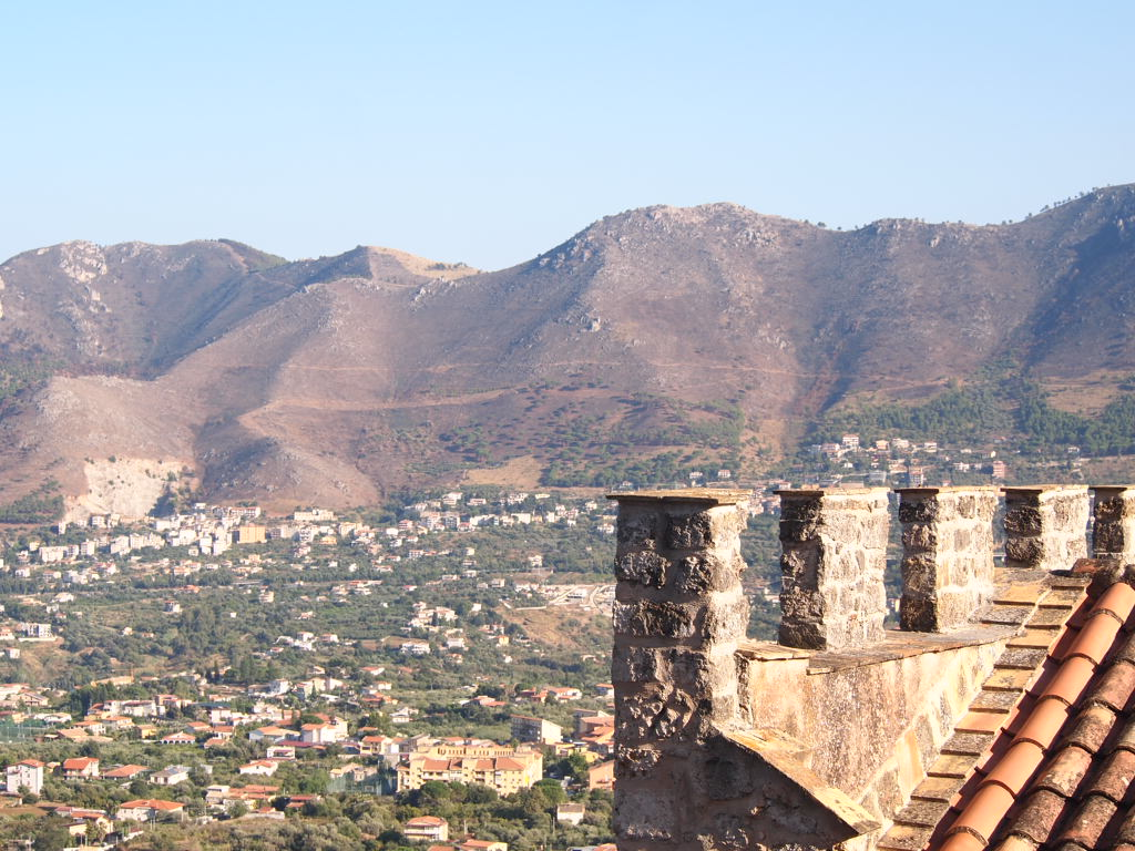 Overlooking the outskirts of Palermo from the slope of Monte Caputo from atop the famous Monreale Cathedral.