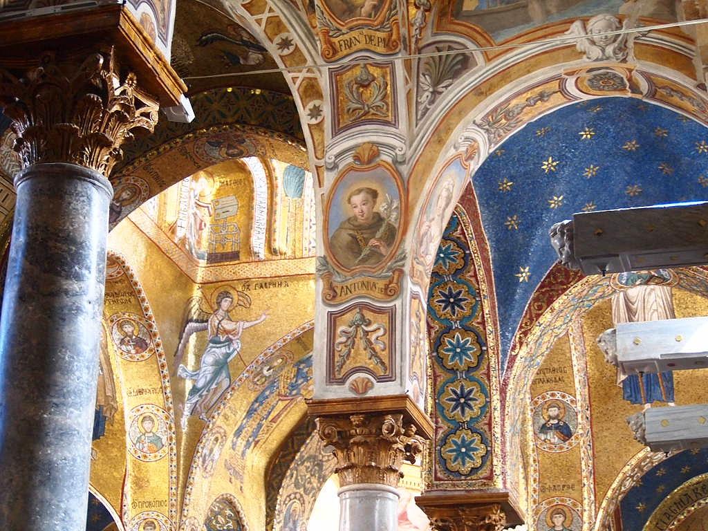 From inside the Church of San Cataldo (Chiesa di San Cataldo). A UNESCO Arabo-Normanna site.