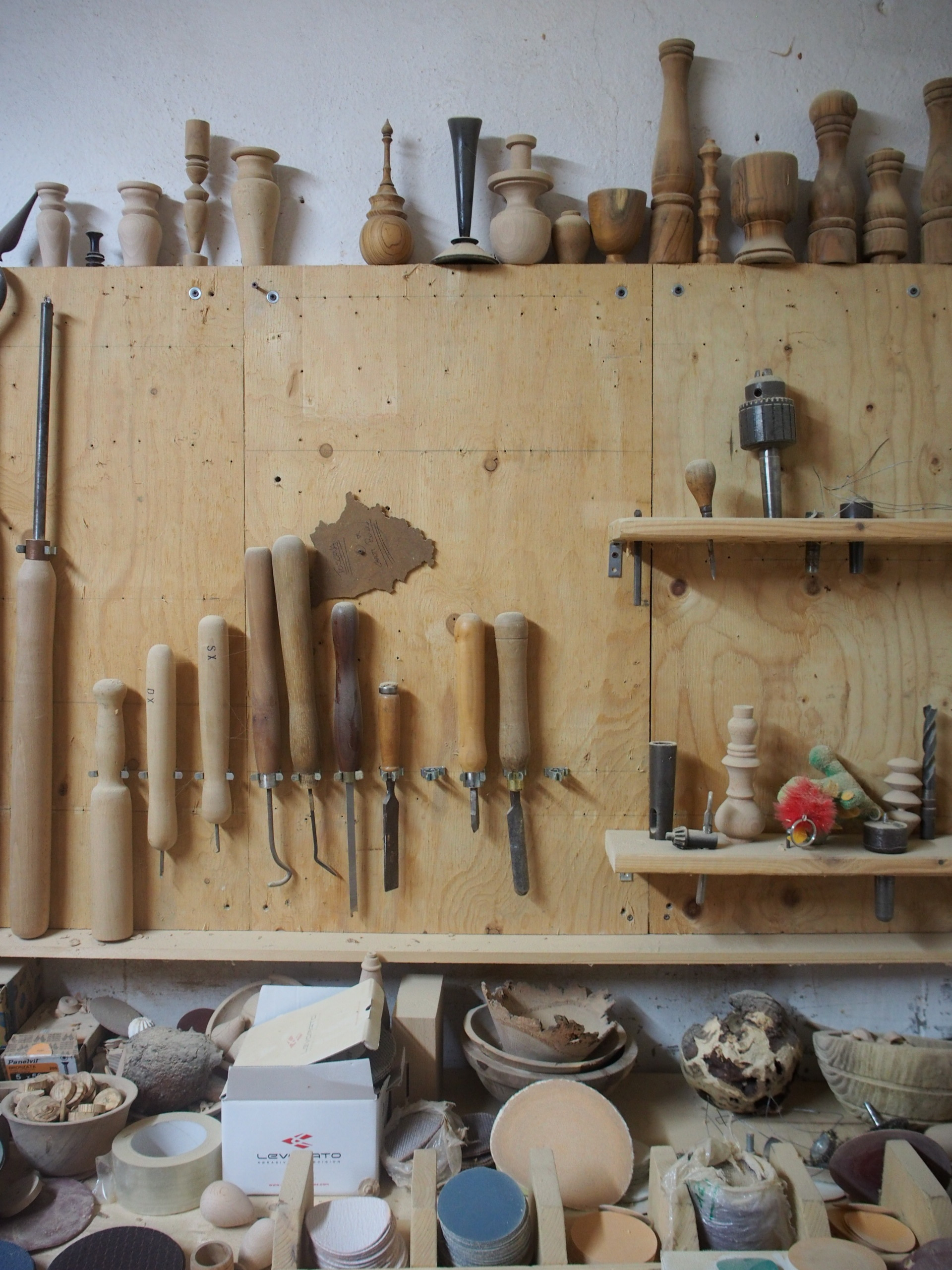 Giorgio Romani´s wood carving tools.