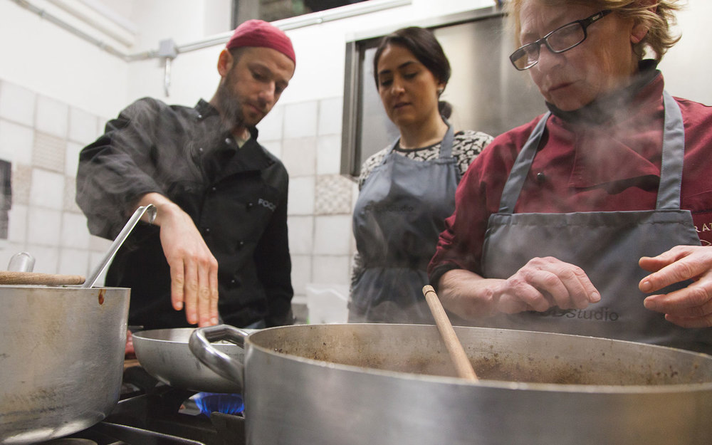 Giorgio Pinto was the host for our very first cooking course in Florence.