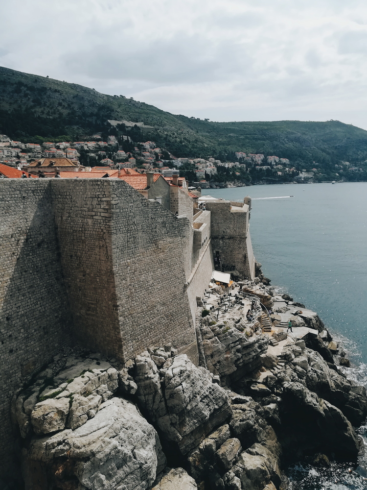 Over 1 million people a year visit Dubrovnik´s city walls. Here you can spot the famous Buza Bar, the city´s most famous cliff bar.