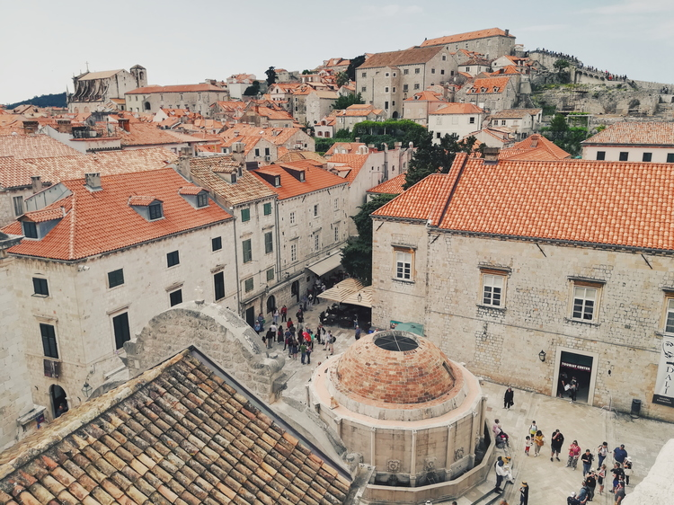 Large Onofrio's fountain was designed and built in the 15th century in Dubrovnik Old Town.