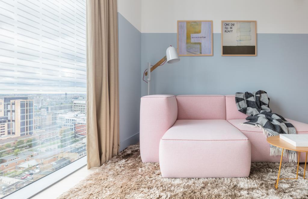 Cosy corner in design apart-hotel Leman Locke by Aldgate.