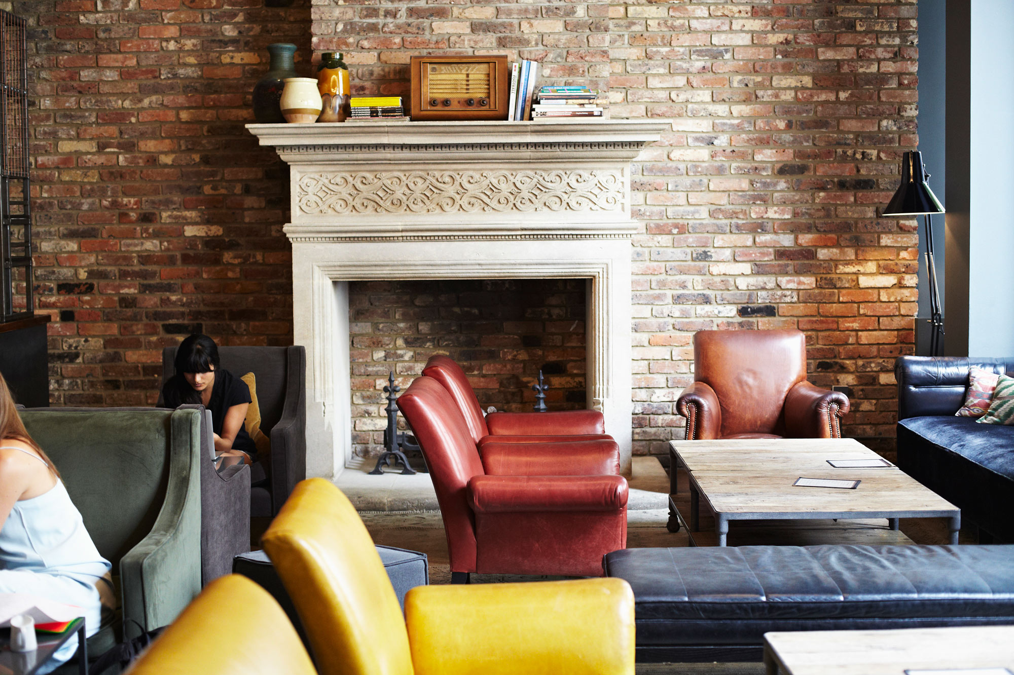 Cool, classic yet contemporary design in the lobby of The Hoxton Shoreditch.