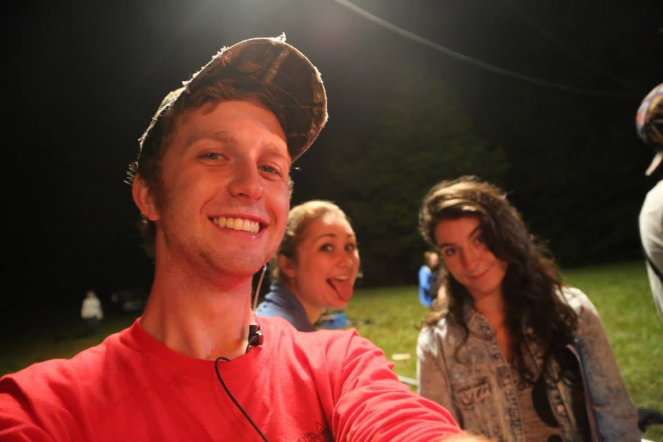 Another Jake selfie, this time with Devin and Laura.