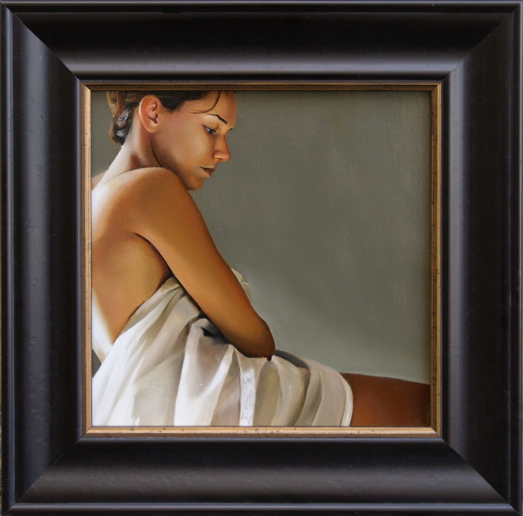 "His Model, Painted (Profile)  12"" x 12"" Oil on Linen SOLD"
