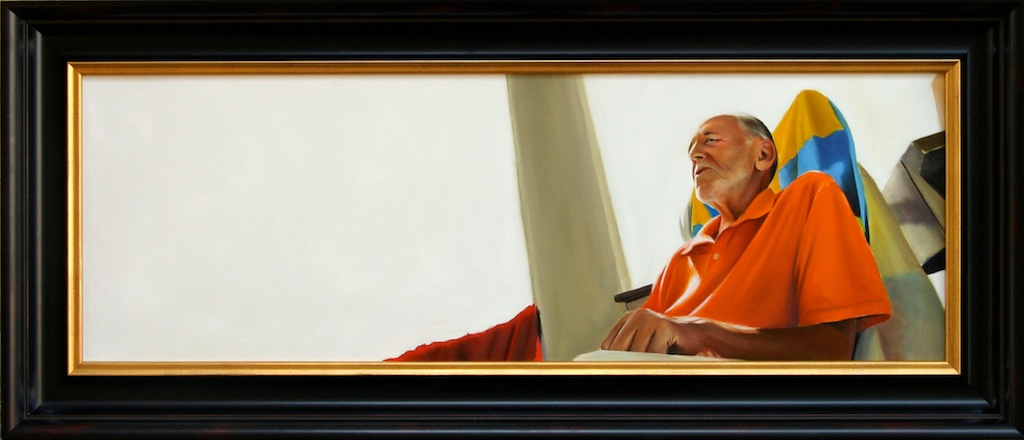 "Whistling: A Lost Art 12"" x 36"" oil on panel SOLD"