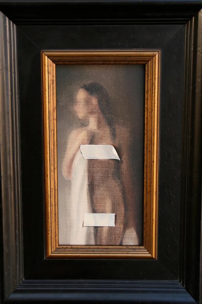 """Censored  6"""" x 12"""" Oil on Linen SOLD"""