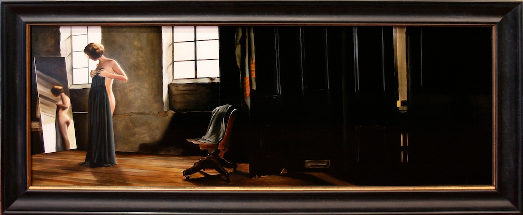 "Envisioned 18"" x 48"" oil on panel SOLD"