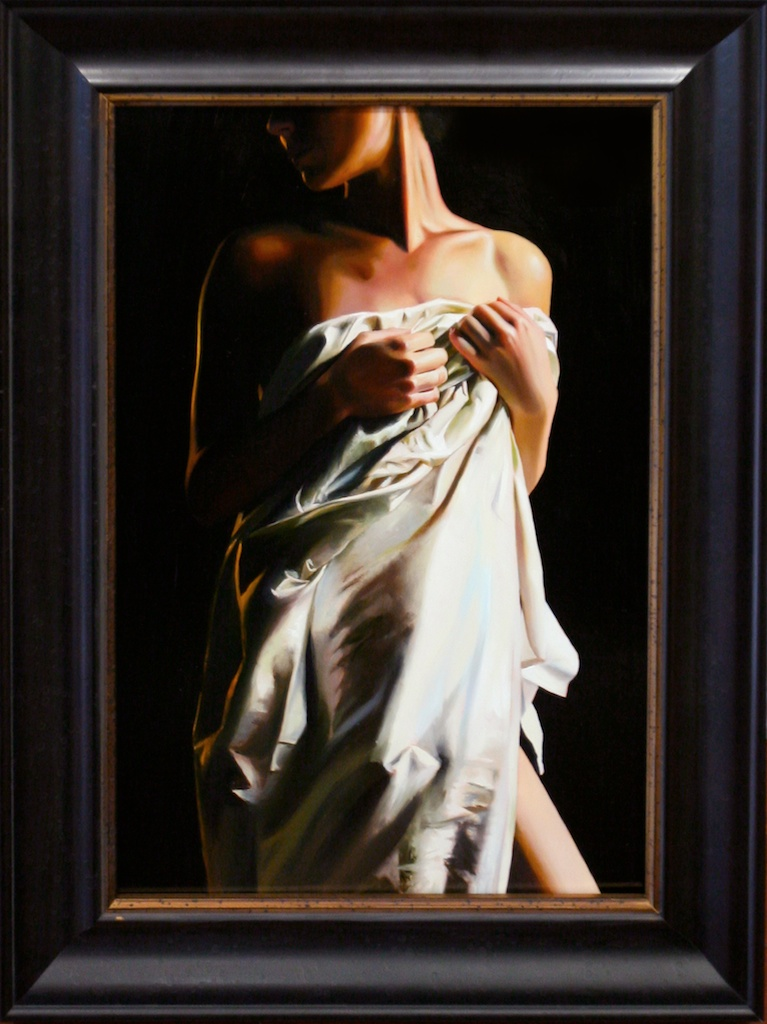 "is Model Painted (Soft Cotton Covers ) 14"" x 21"" Oil on Panel SOLD"