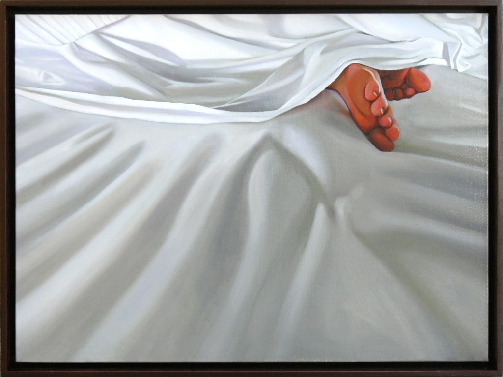 "From the Tips of Her Toes 18"" x 24"" oil on linen SOLD"