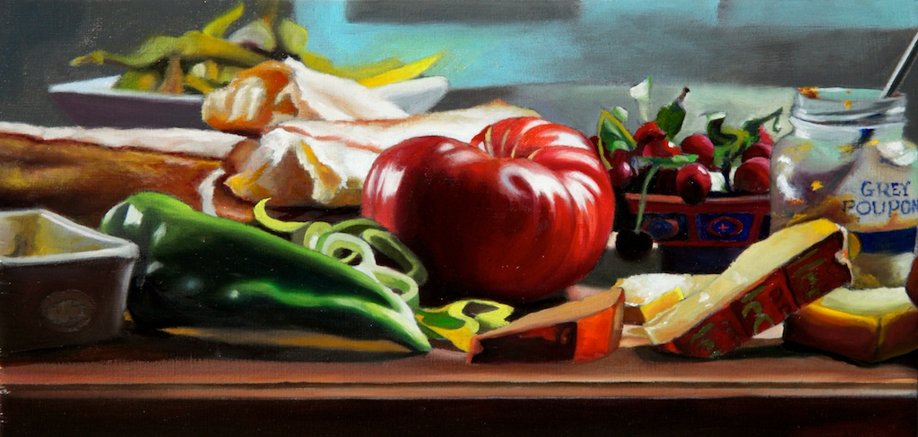 """You Will Enjoy Good Health 5 x 10"""" oil on panel SOLD"""