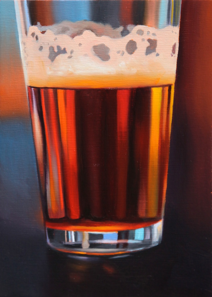 """Pint Size 5 x 7"""" oil on panel SOLD"""