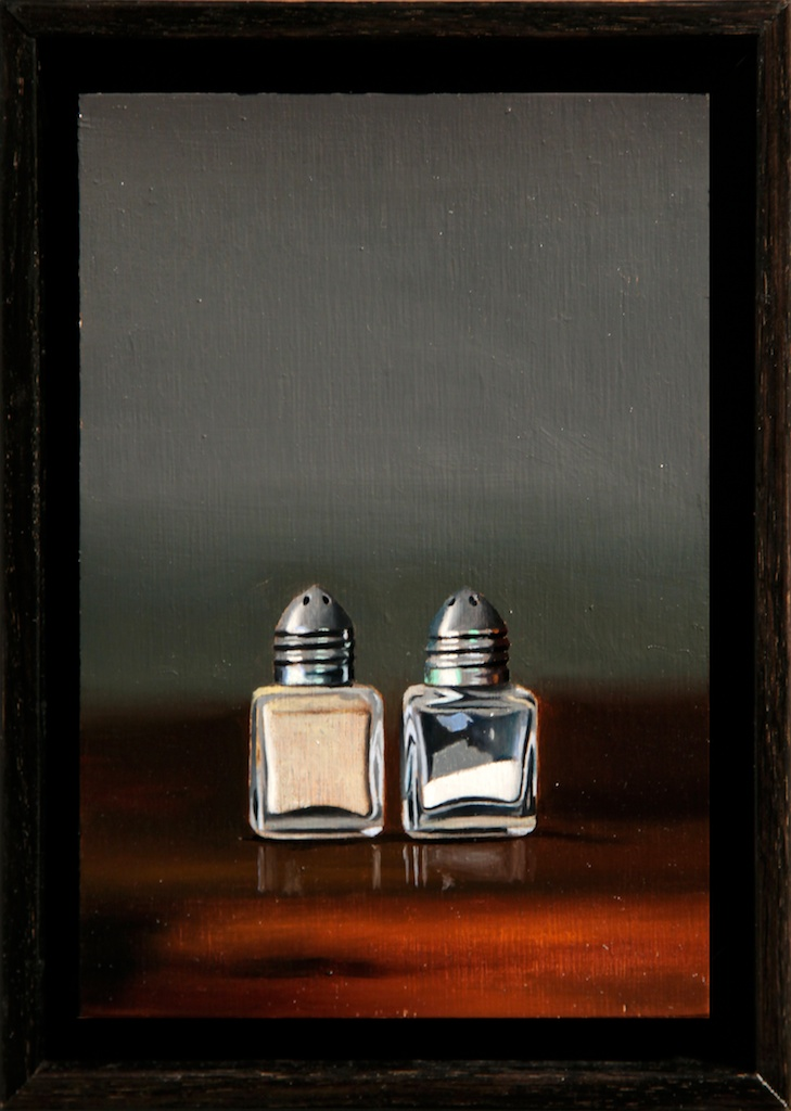"""Made for Each Other 5"""" x 7"""" oil on panel SOLD"""