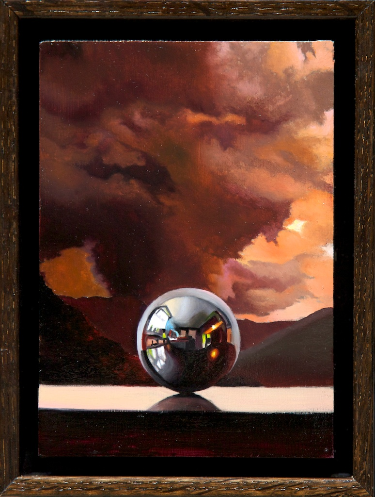 """Out of My Element 5"""" x 7"""" oil on panel SOLD"""