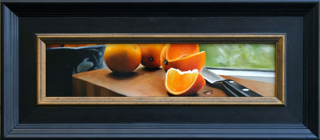 """Drawn and Quartered 5"""" x 20"""" Oil on Linen SOLD"""