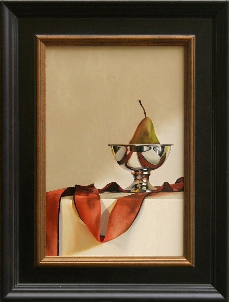 """The Chic Pear 12"""" x 18"""" Oil on Linen SOLD"""