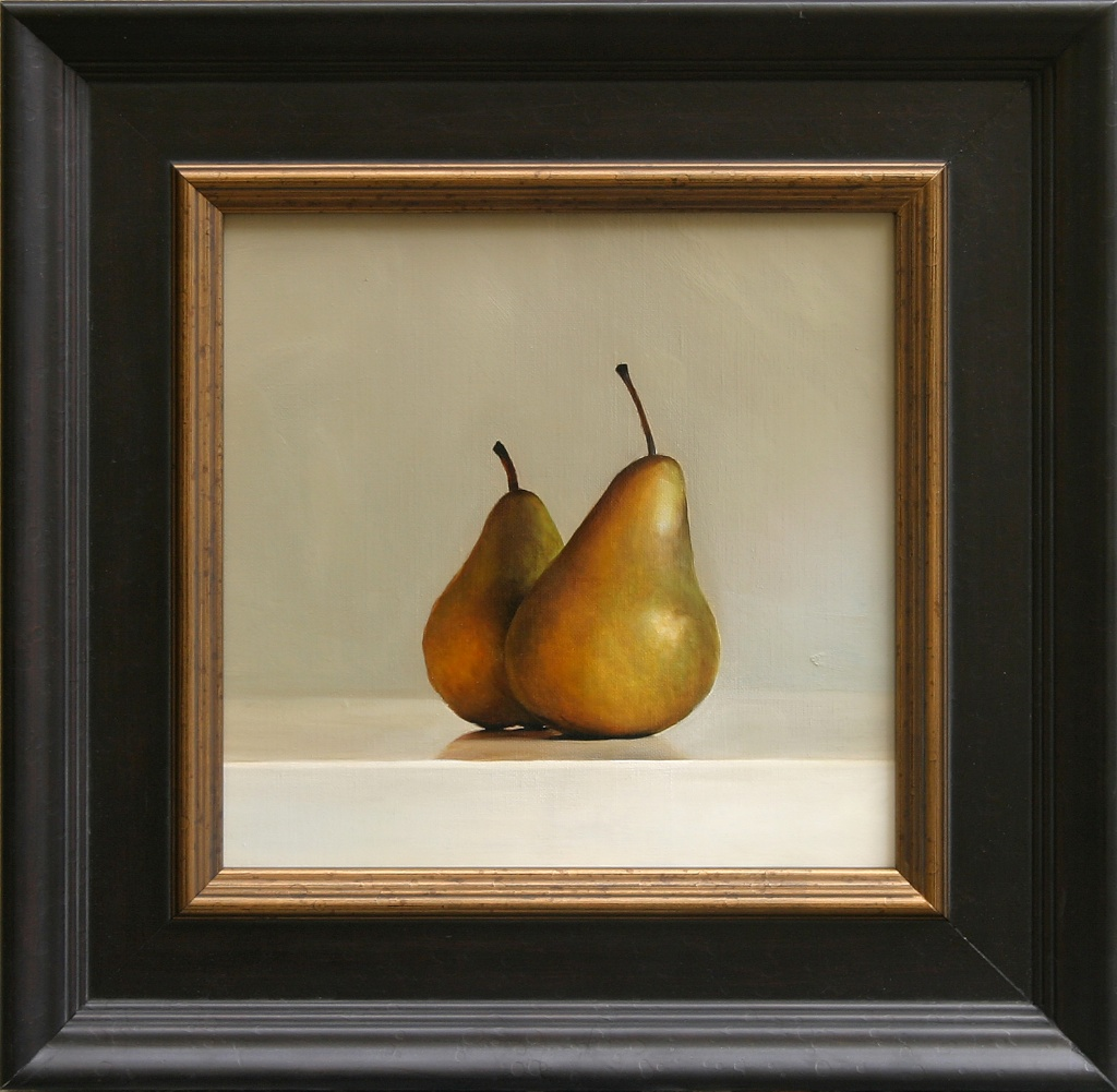 """The Companion Pears 12"""" x 12"""" Oil on Linen SOLD"""