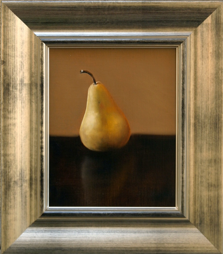 """The Impartial Pear 8"""" x 10"""" Oil on Linen SOLD"""