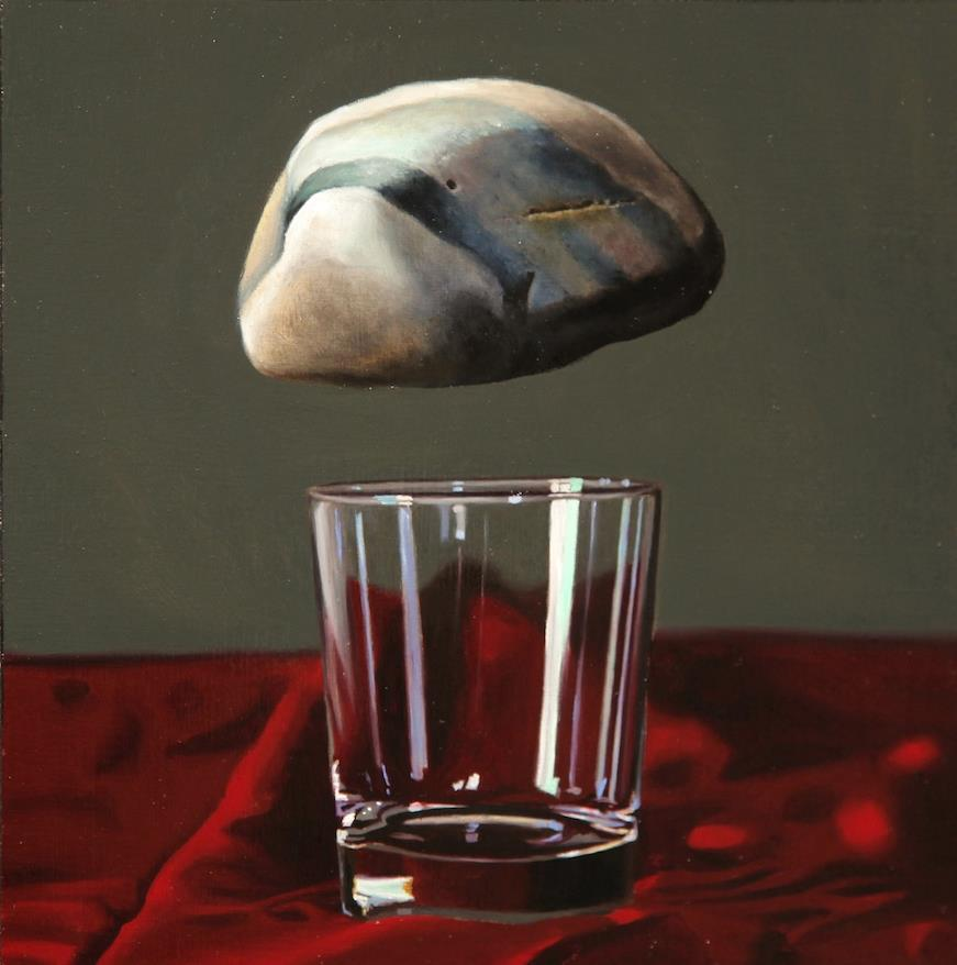 """A Weighted Queston 8"""" x 8"""" oil on panel SOLD"""