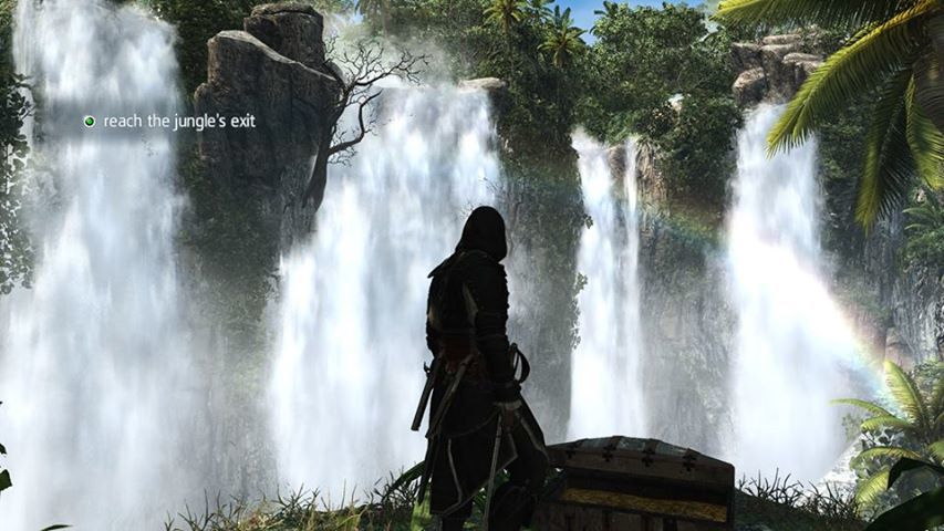 Waterfall and Rainbow in AC4