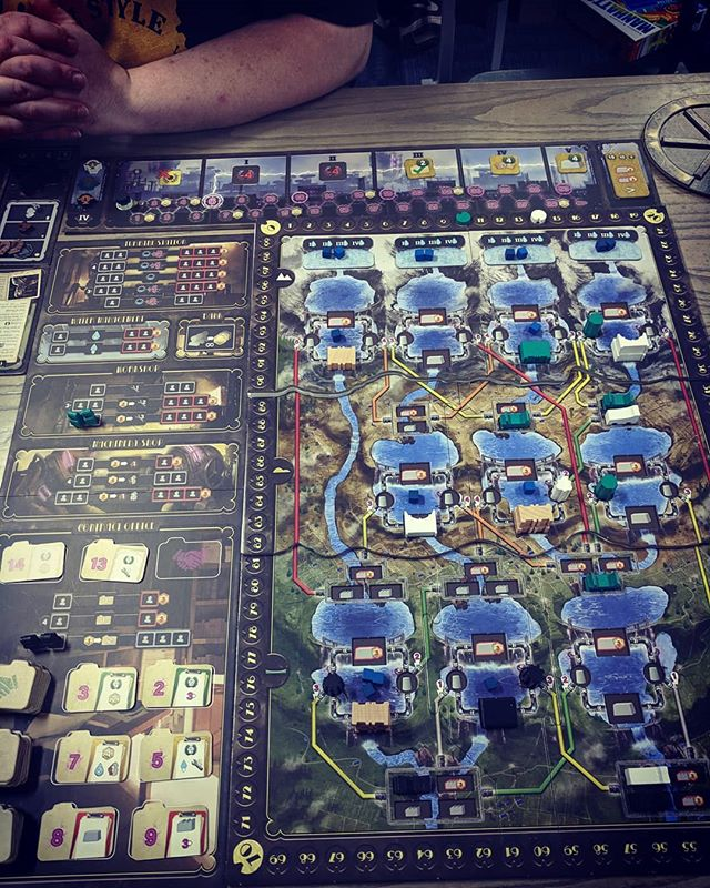 Played a learning game of #Barrage last night from @craniocreations_official  The 3d board on the table looked stunning and the mechanics to the game are really cool.  Definitely looking forward to playing again.  #boardgames #bgg #tabletop #dams