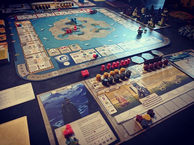 So I'd have to say after a couple of games of #Tapestry tonight, it looks like @jameystegmaier is gonna have another hit on his hands.  There are so many different things I want to try in this game I can't wait to play it again.  #boardgames #bgg #civilization #greatgame.  #tabletopgames