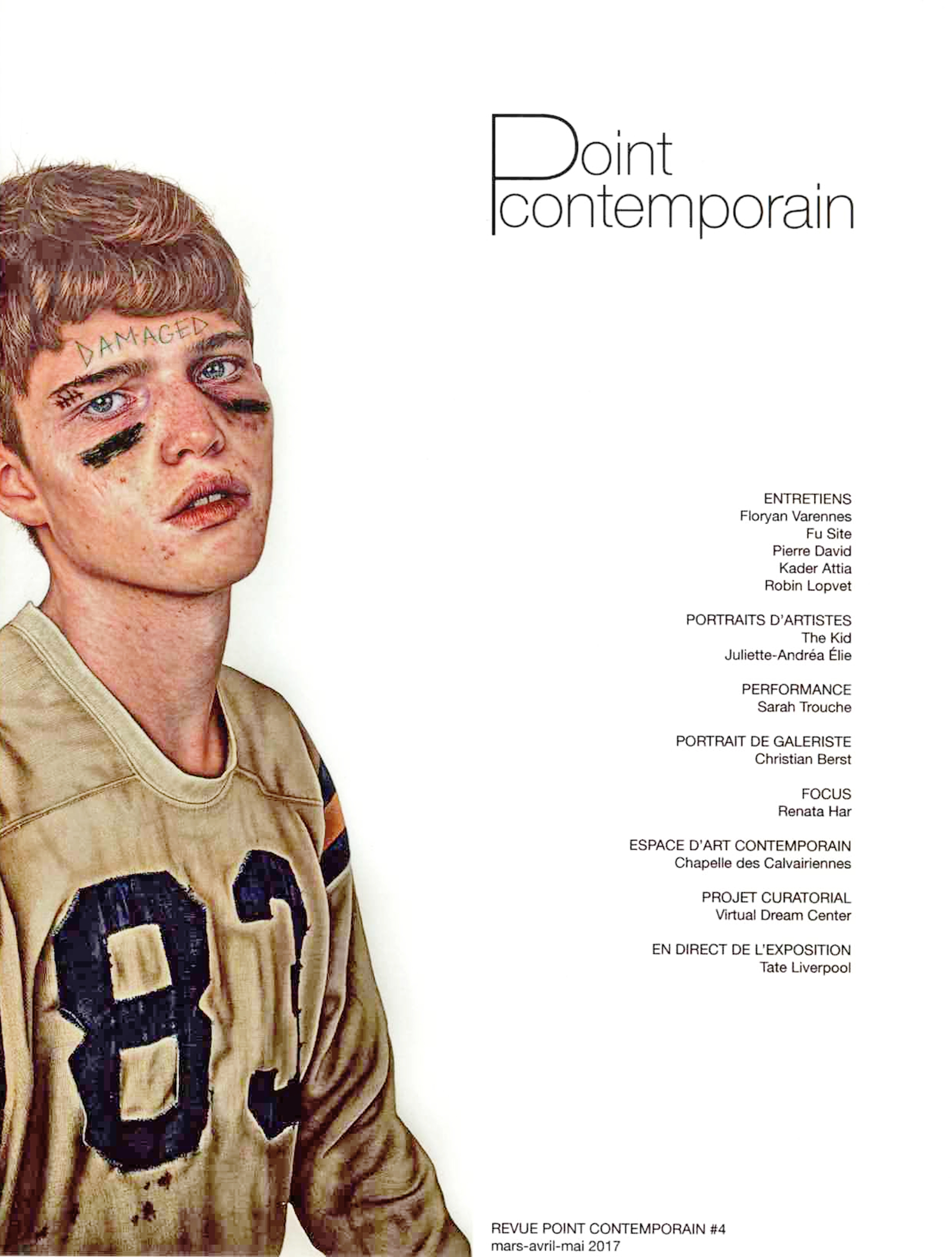 THE KID in Point Contemporain Magazine - Spring Summer 2017 - Cover Page - 150dpi
