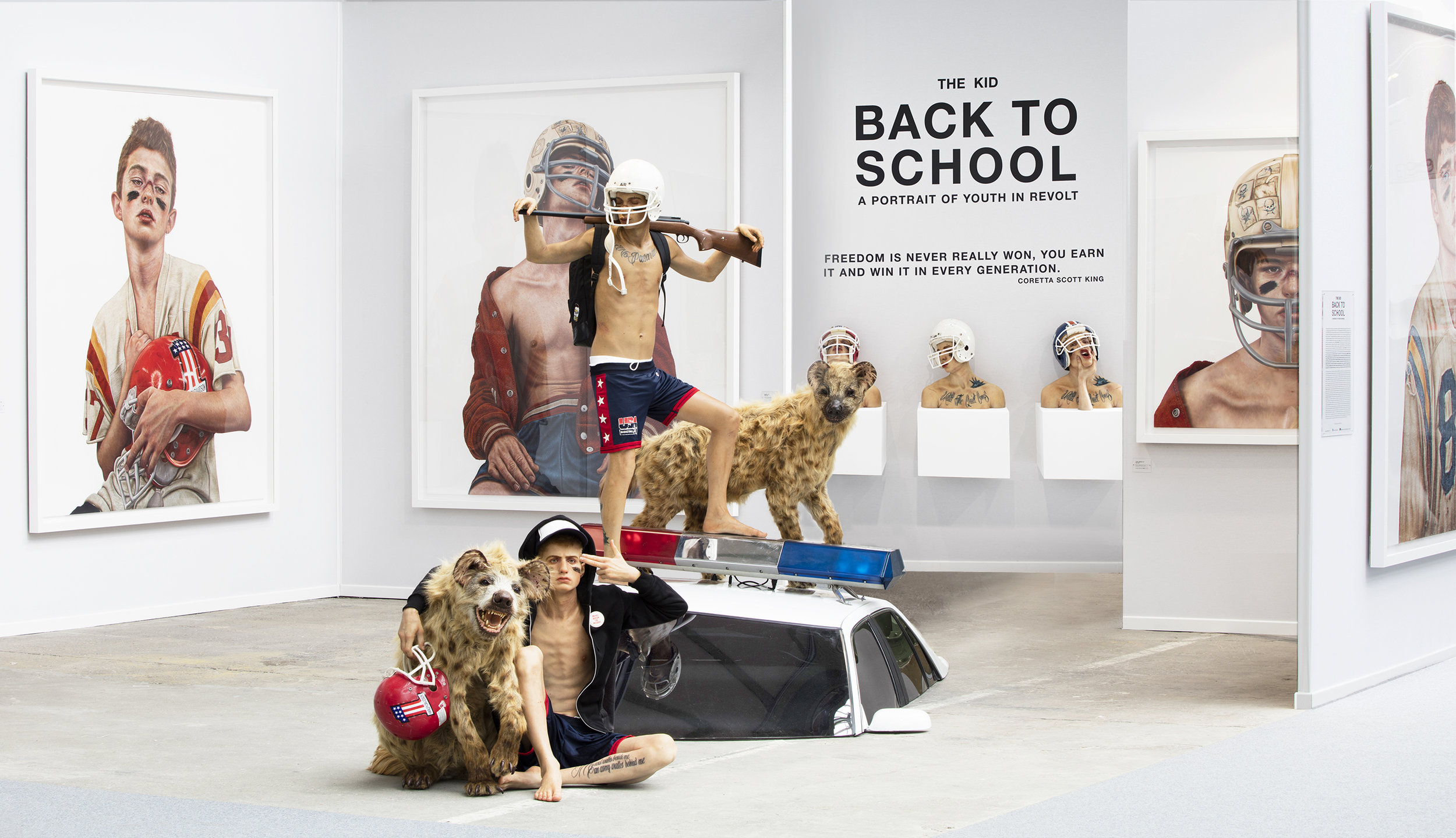 THE KID : BACK TO SCHOOL - A Portrait Of Youth In Revolt . Solo Show. Installation, paintings, sculptures. ART PARIS 2017. GRAND PALAIS, Paris. March 30 - April 2, 2017