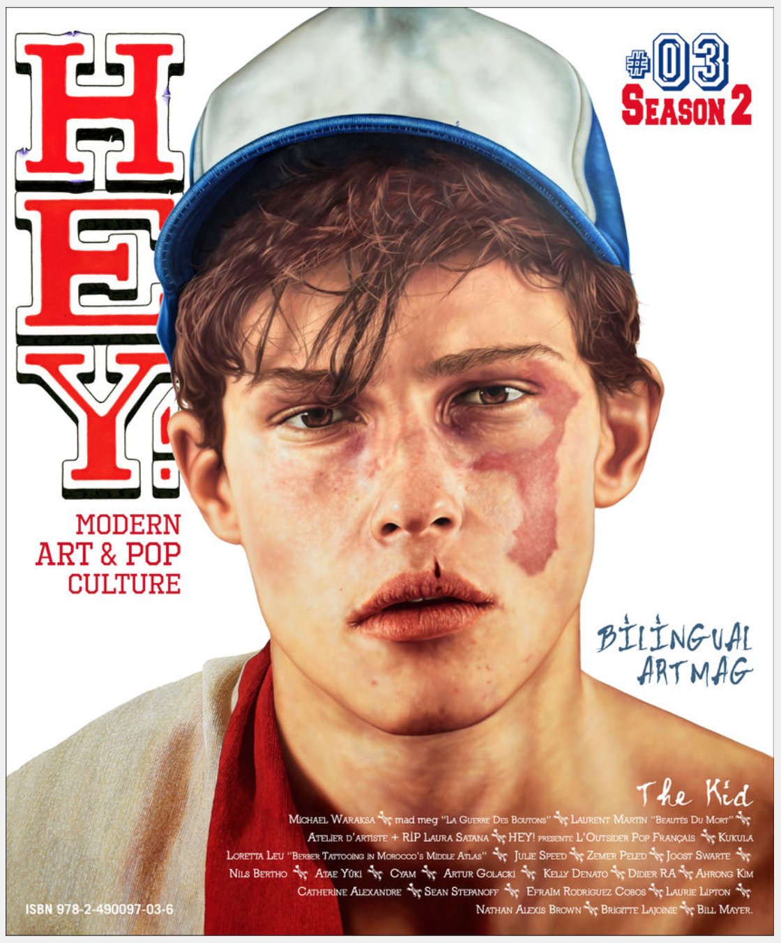 THE KID in HEY! Magazine - June July August 2018 - International - Cover page and pages 2 to 3 and 12 to 27 - Cover Page
