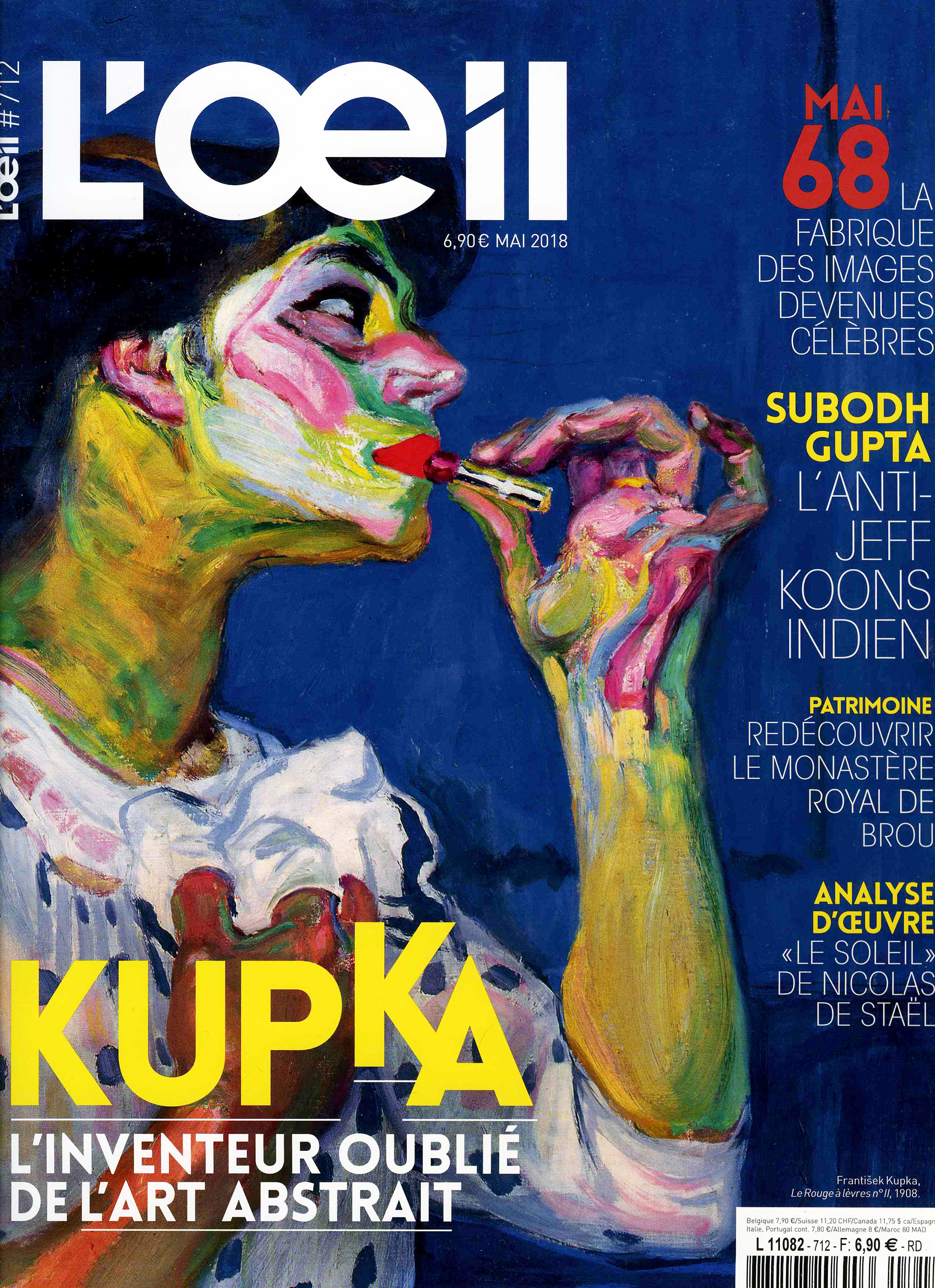 THE KID in L OEIL Magazine - May 2018 Print Issue - France - Pages 112 and 113 - Cover page
