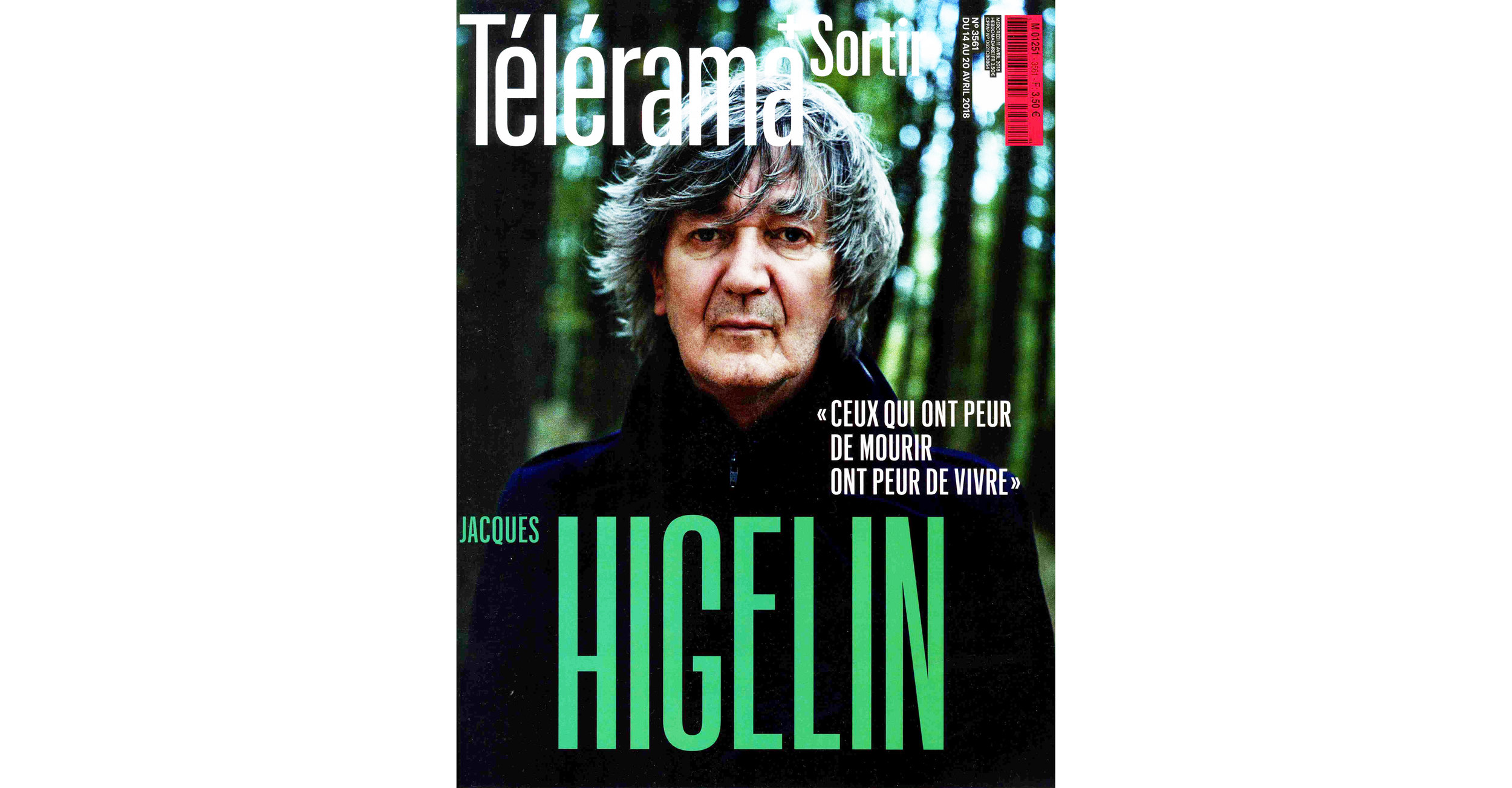 THE KID in TELERAMA Magazine - April 14 2018 Print Issue - France - Page 12 - Cover page - 150dpi - Web wb.jpg