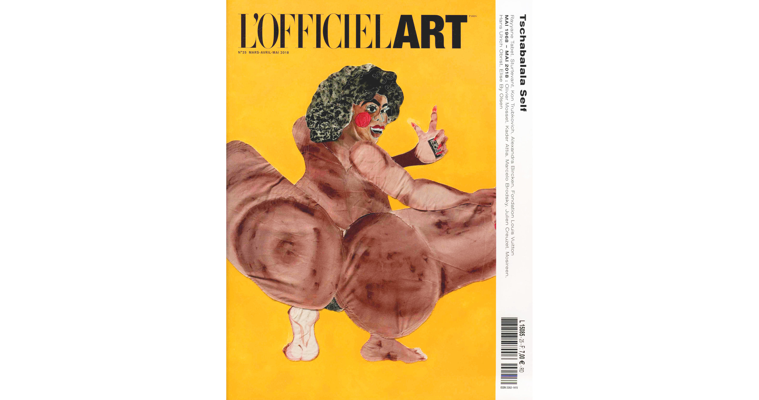 THE KID in OFFICIEL ART Magazine - March April May 2018 Print Issue - France - Page 36 - Cover page - Web 150dpi - Web wb.jpg