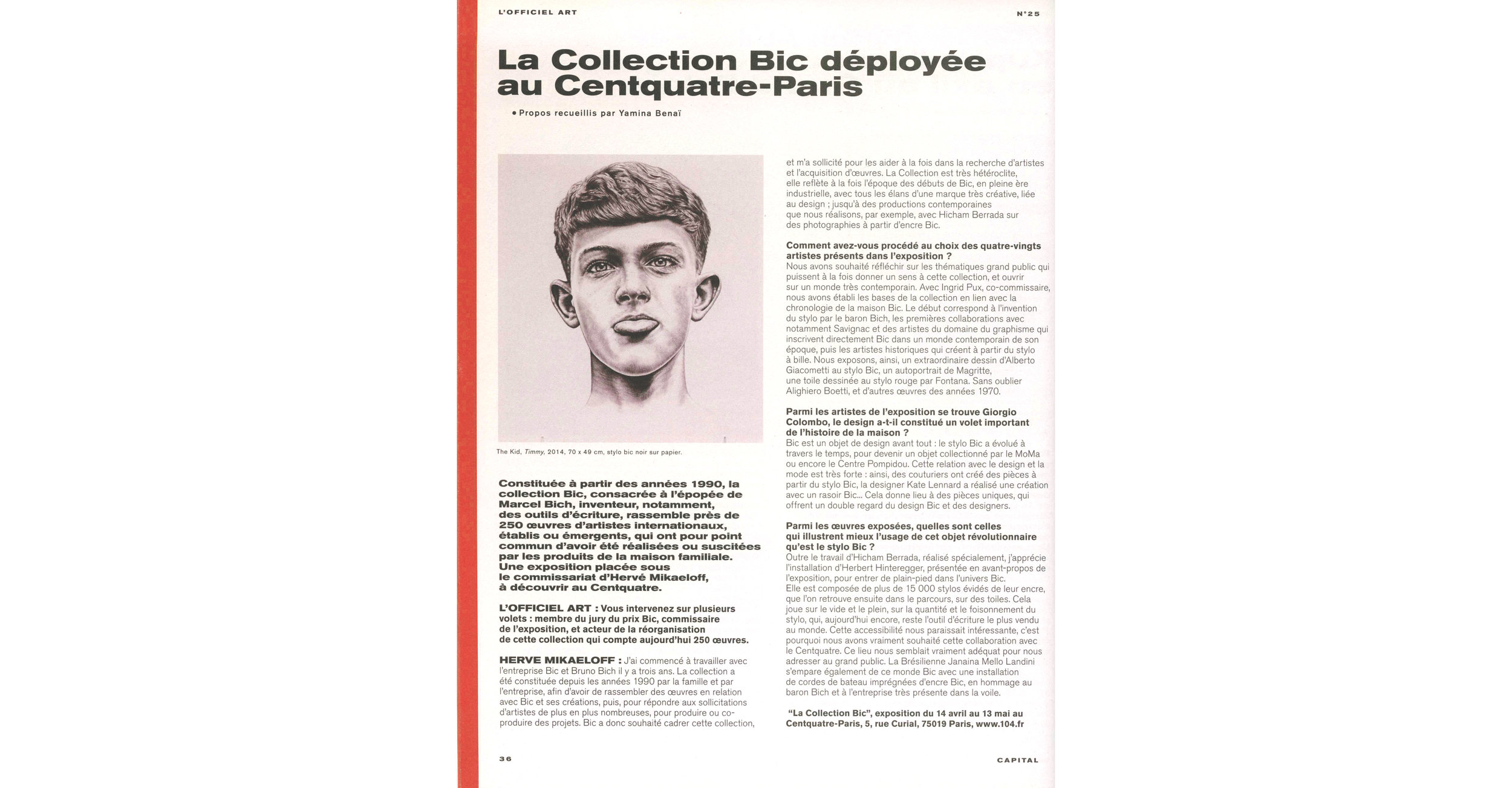 THE KID in OFFICIEL ART Magazine - March April May 2018 Print Issue - France - Page 36 - Page 36 - 150dpi - Web wb.jpg