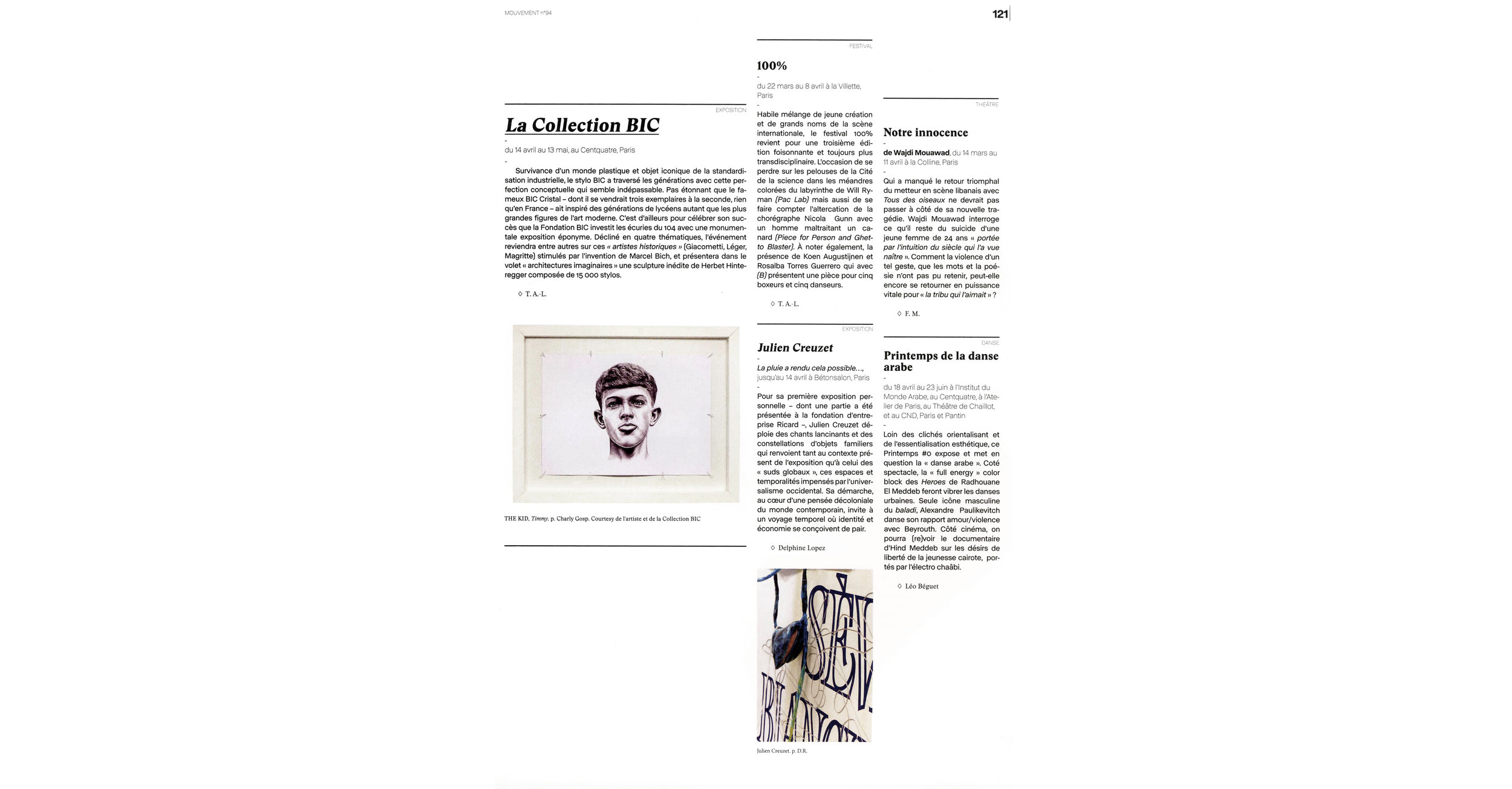 THE KID in MOUVEMENT Magazine - March April 2018 Print Issue - France - Page 121- Page 121 - 150dpi - Web wb.jpg