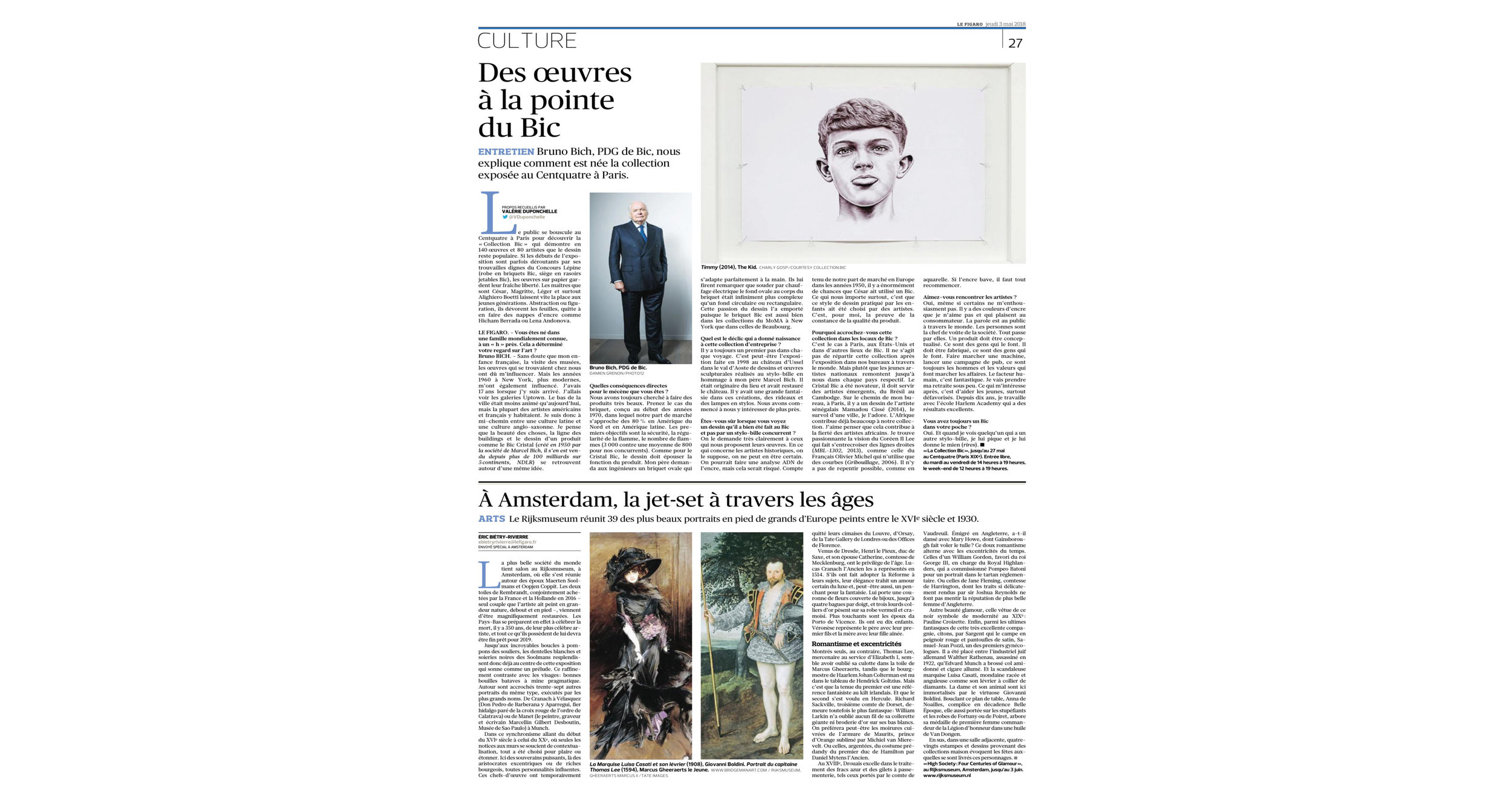 THE KID in LE FIGARO Newspaper - Leading National Daily Newspaper - Print Issue - France - June 03 2018 - Page 27 - Page 27.jpg