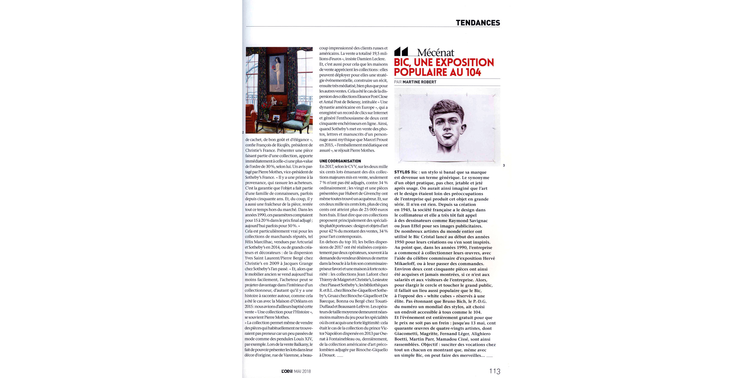 THE KID in L OEIL Magazine - May 2018 Print Issue - France - Page 113 - Page 113 - Web wb.jpg