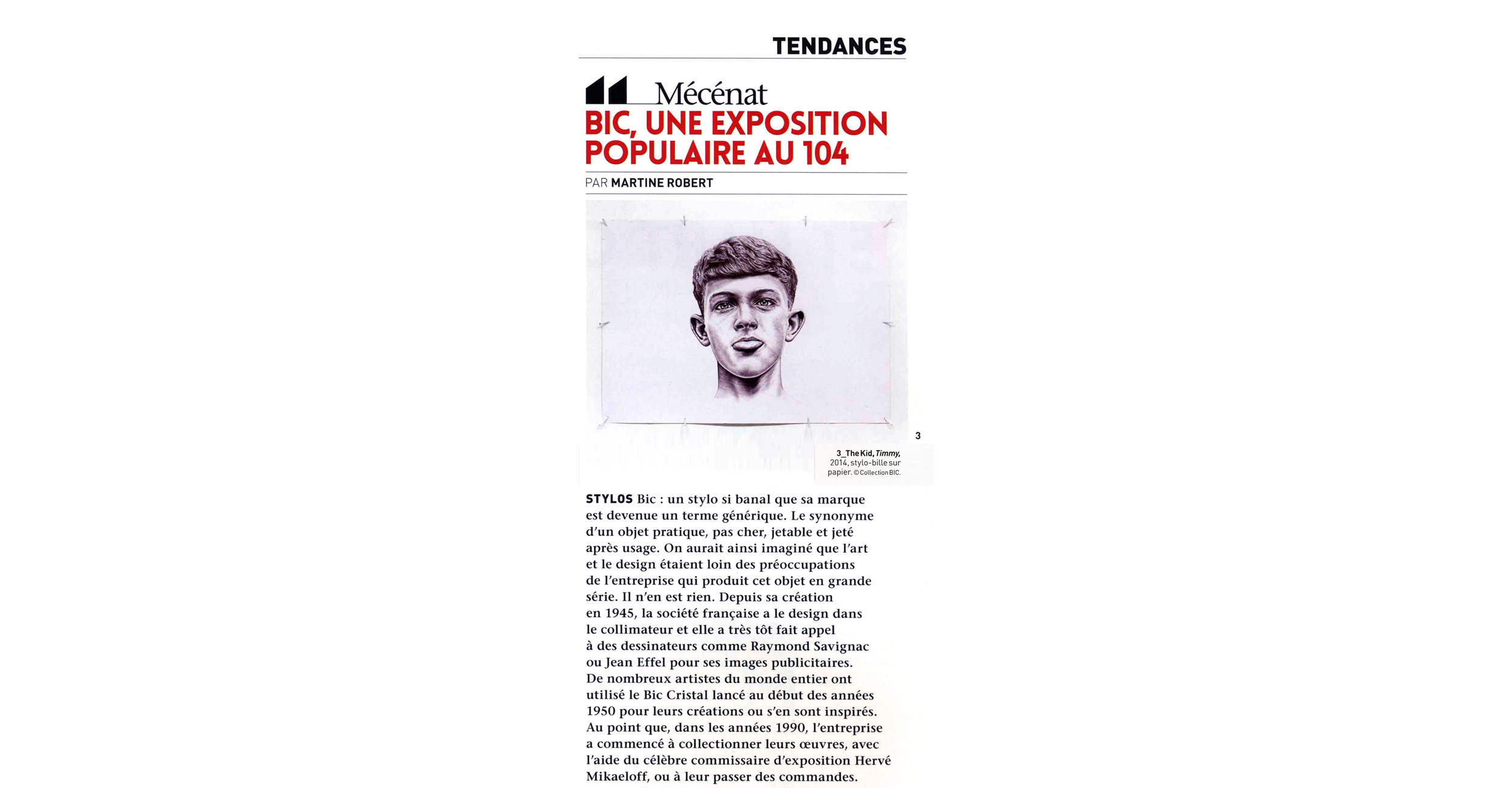 THE KID in L OEIL Magazine - May 2018 Print Issue - France - Pages 112 and 113 - Page 113 - Article - Zoom in - Web wb copie.jpg