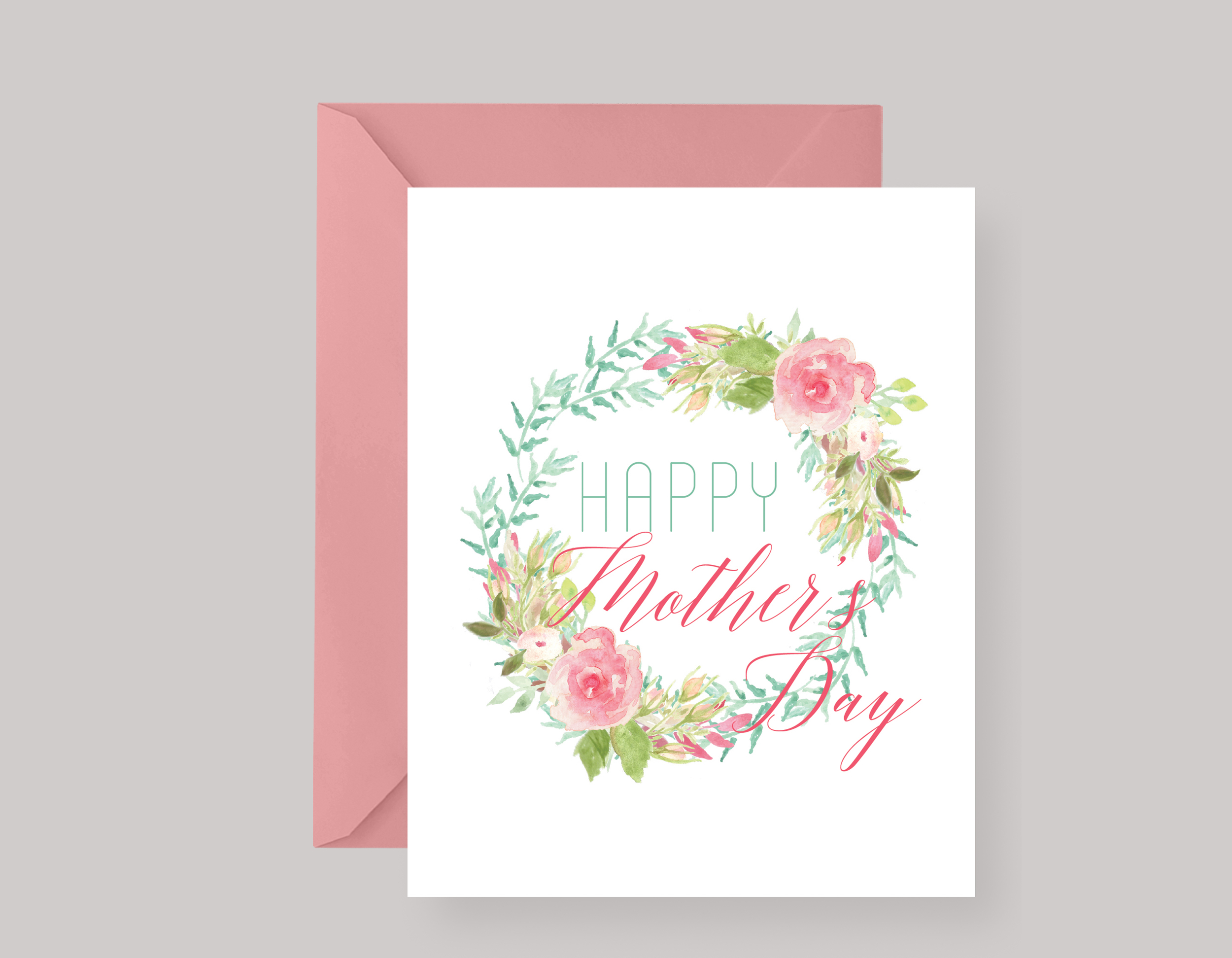 SPRING FLORAL MOTHER'S DAY CARD $4.00+