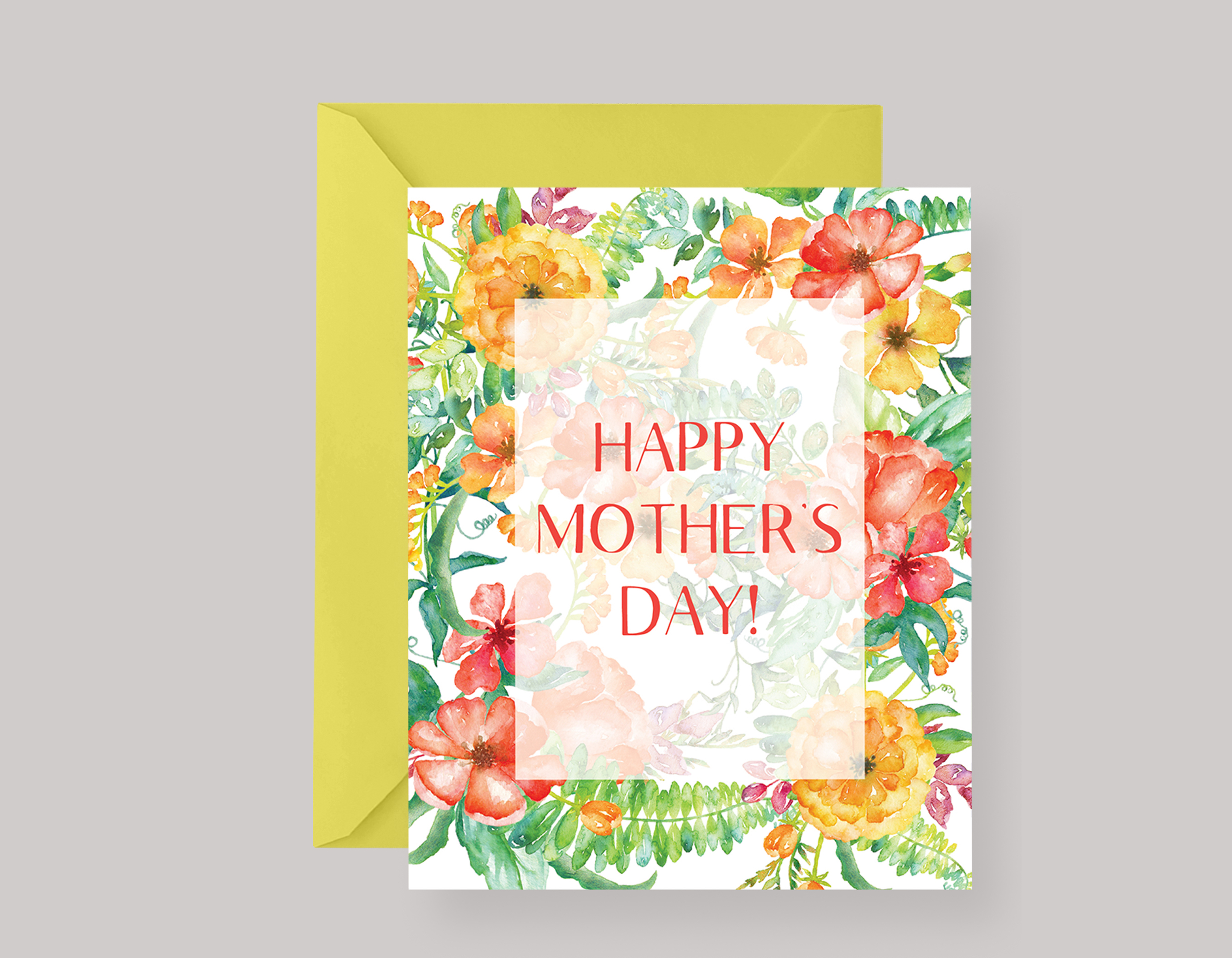 TROPICAL FLORAL MOTHER'S DAY CARD $4.00+