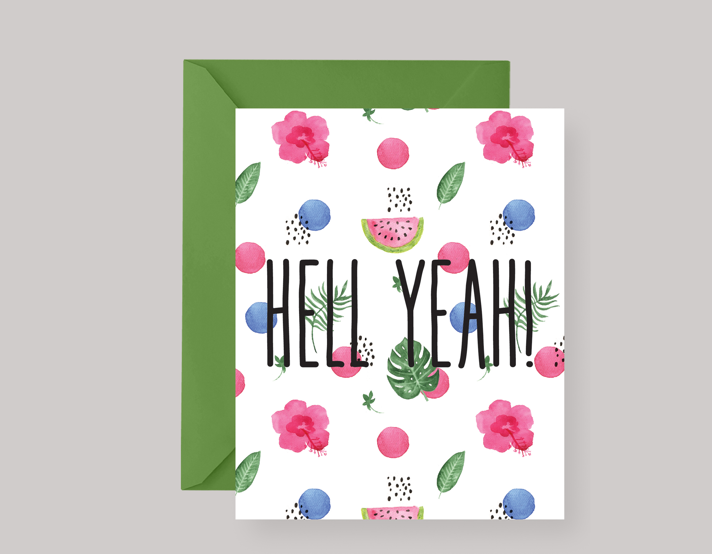 HELL YEAH—ANY OCCASION CARD $4.00+