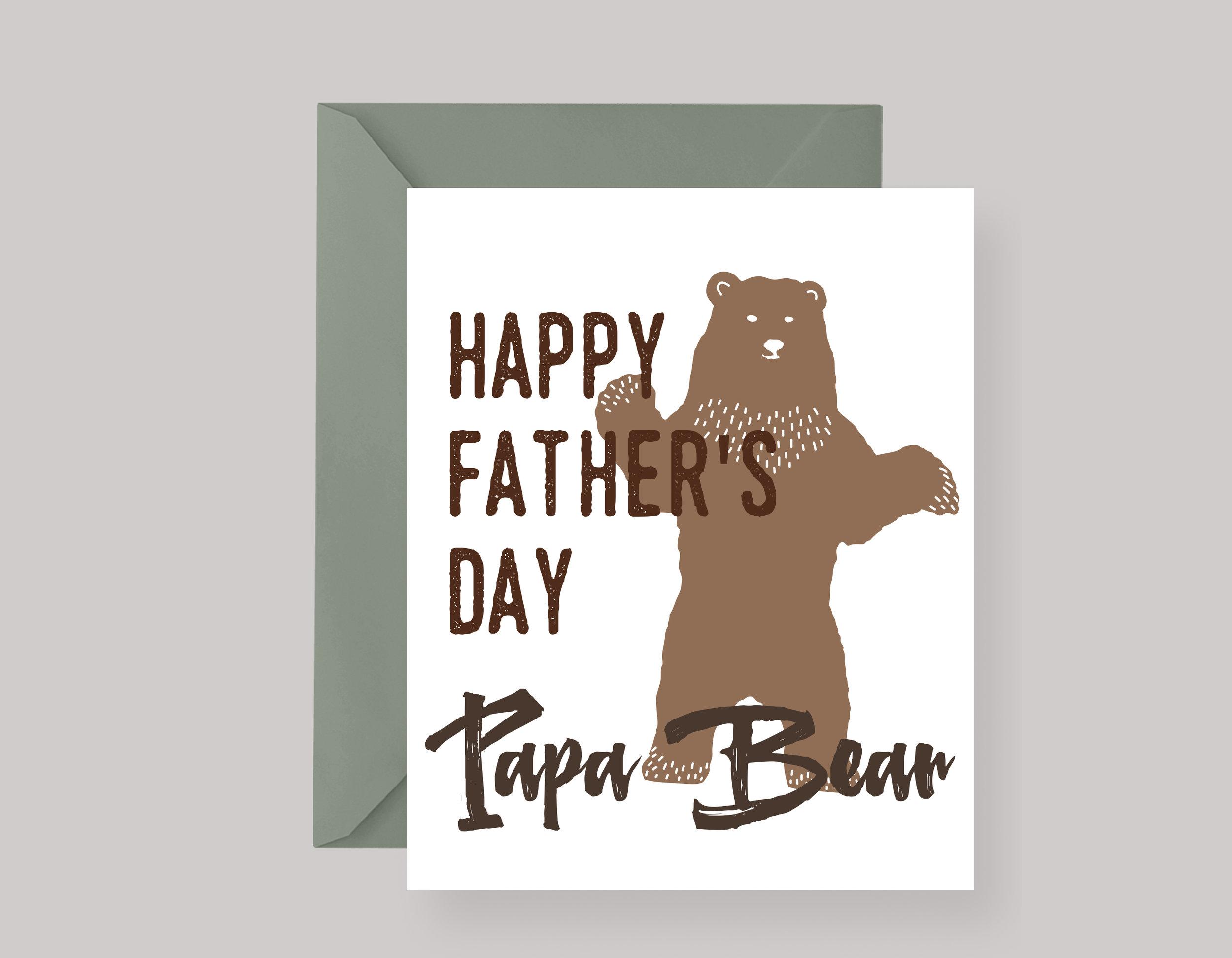 "FATHER'S DAY CARD—""Papa Bear"" $4.00+"
