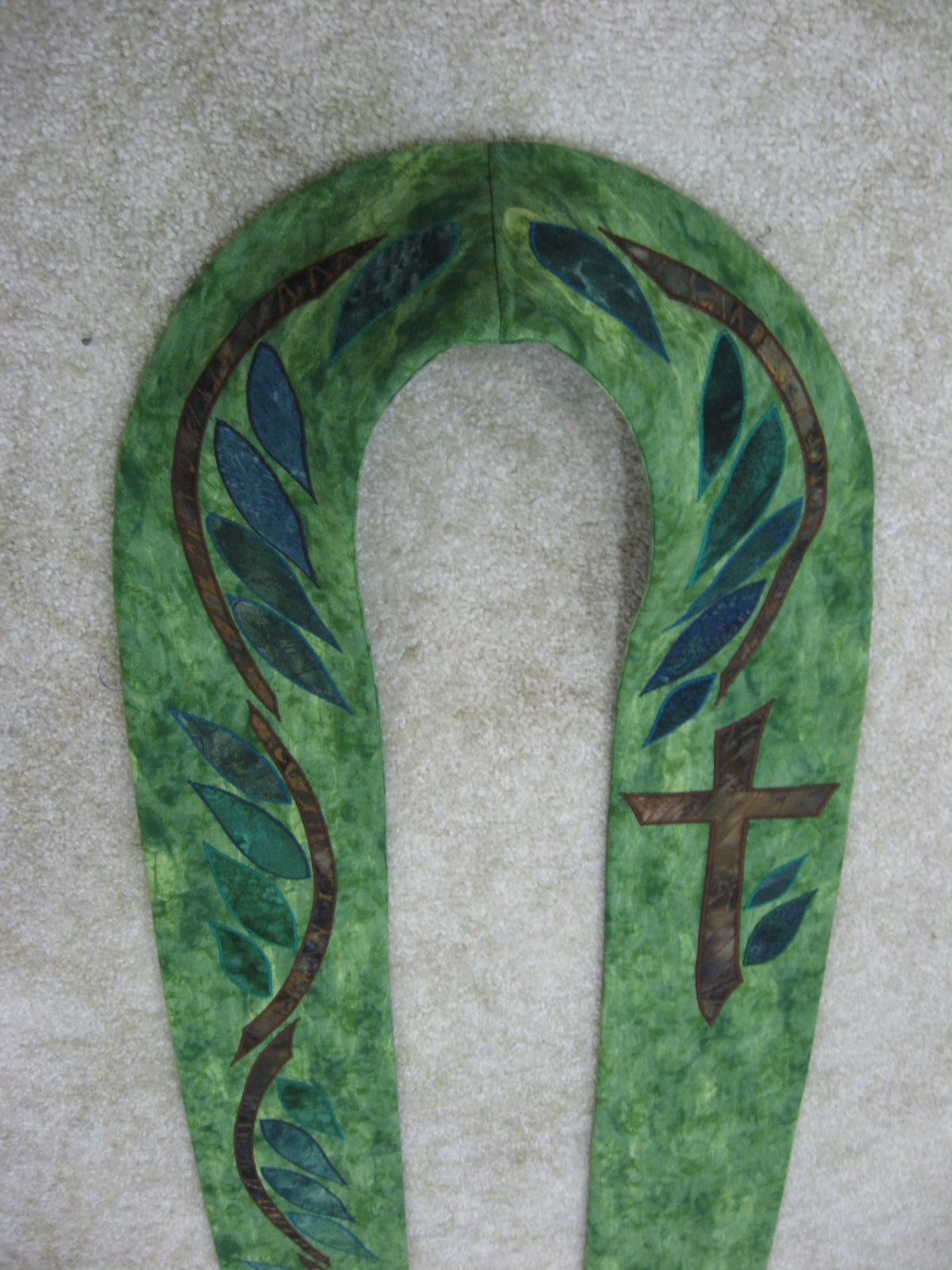 Detail, Green Stole, I am The Vine