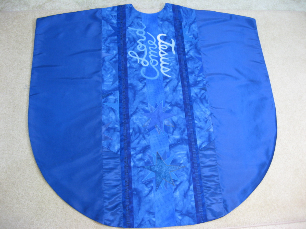 Blue Chasuble, back