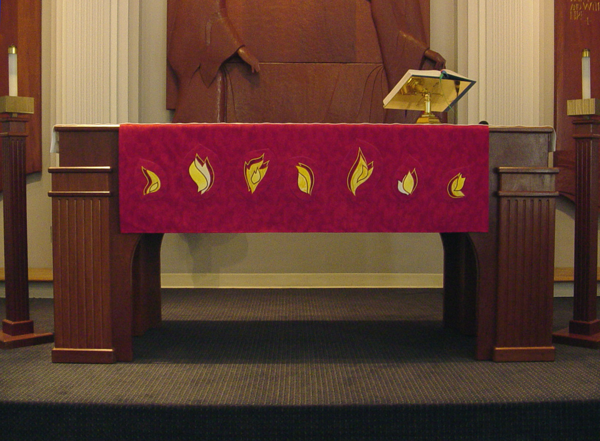 Pentecost Altar frontal, 7 Gifts of The Holy Spirit