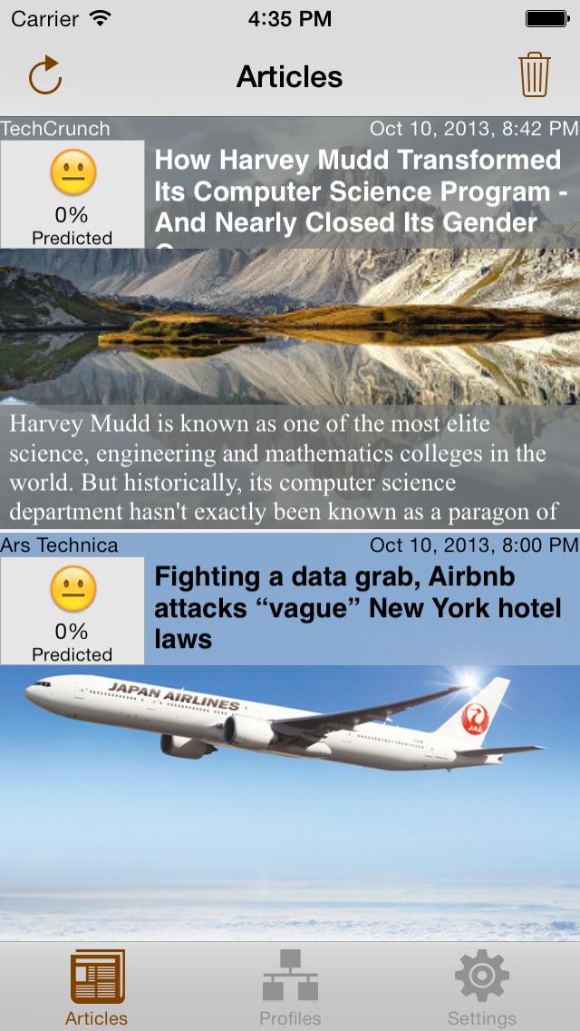 Articles Screen