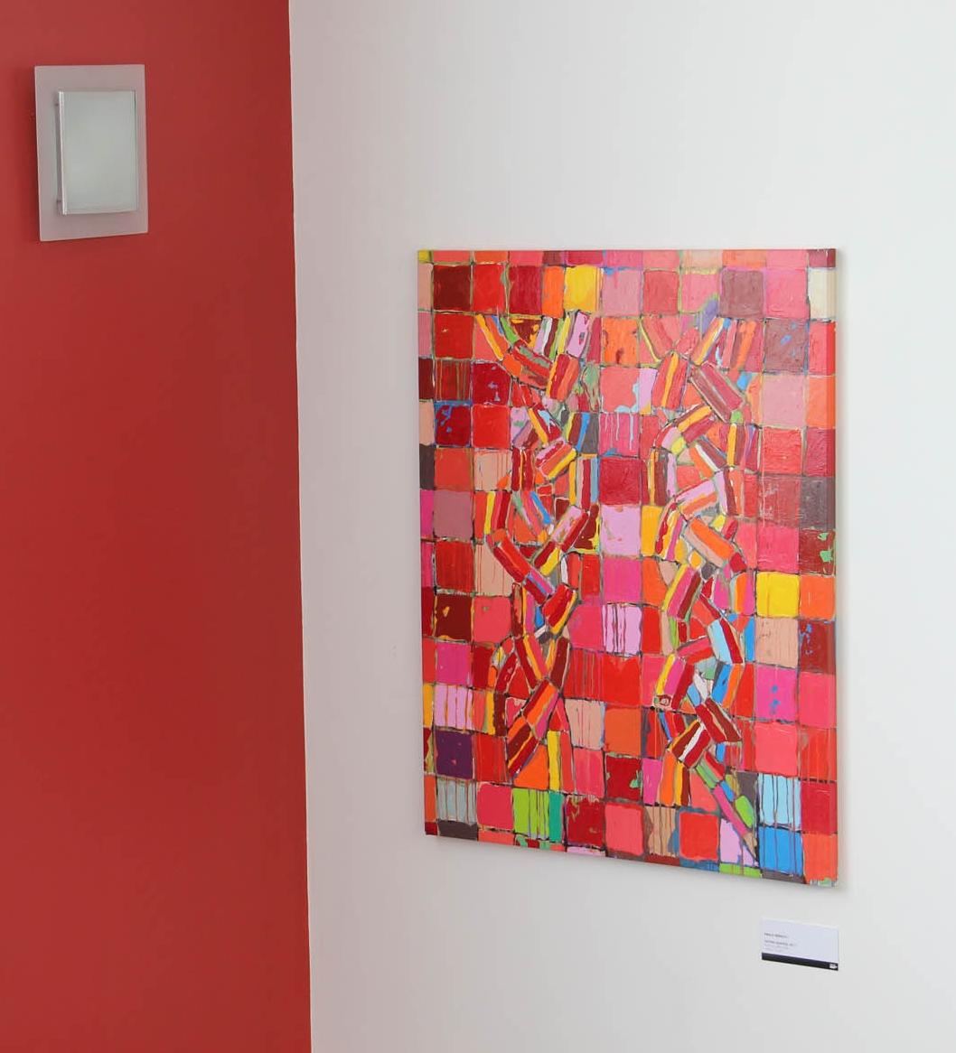 Entrelaçados 2011, Acrílica sobre tela    148 x 112 cm