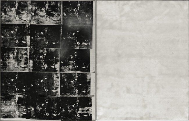 """Andy Warhol   """"Silver Car Crash (Double Disaster)"""""""